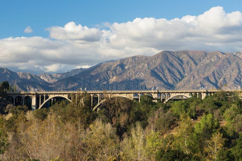 Colorado-Straßen-Brücke Pasadena lizenzfreie stockbilder