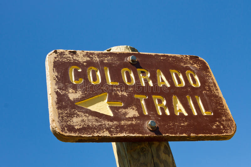 Download Colorado Trail Sign stock image. Image of states, tree - 21987961