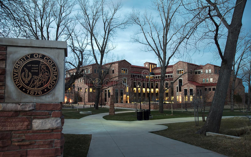 Colorado university royalty free stock images