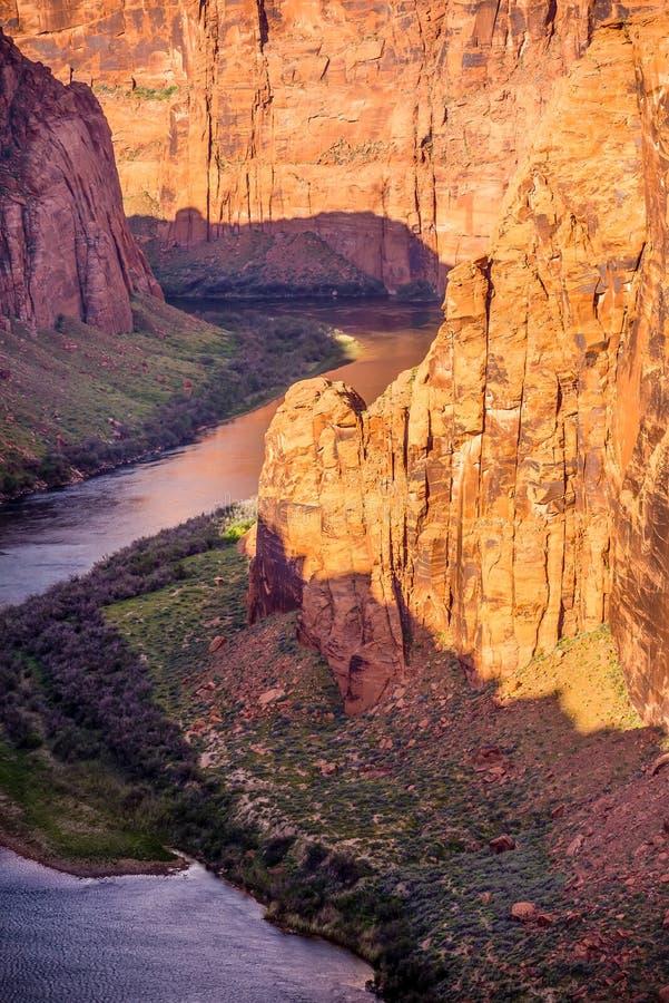 Colorado Viver che attraversa Grand Canyon immagini stock libere da diritti