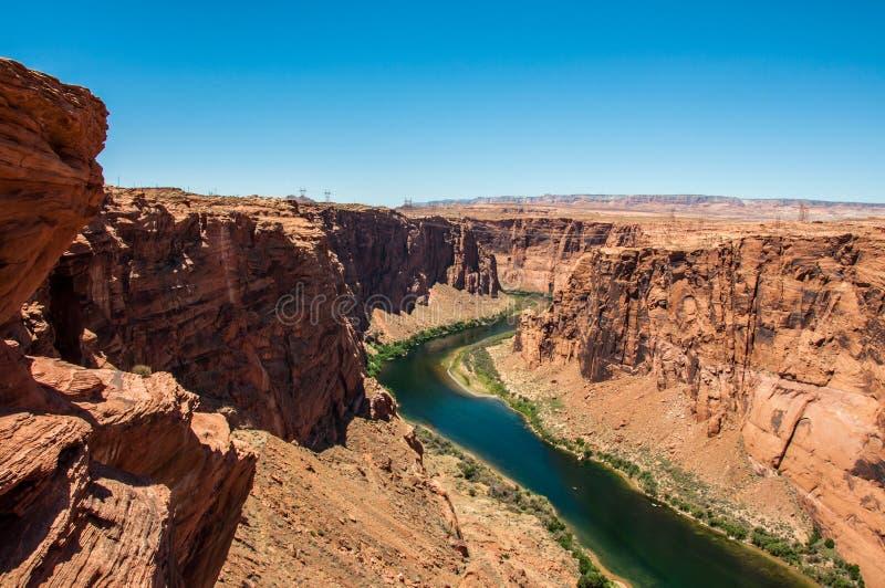 Coloradofloden i Grand Canyon, Arizona USA royaltyfria bilder