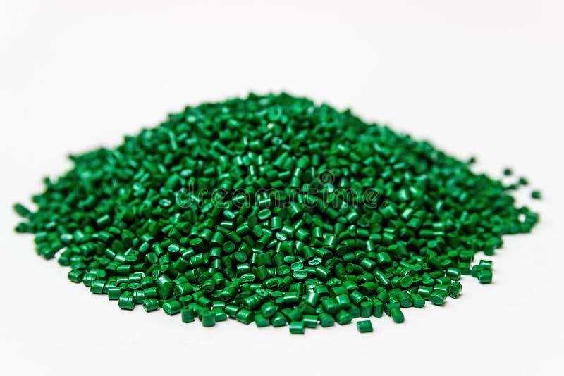 Colorant polymère granules en plastique Colorant dans les granules photos libres de droits