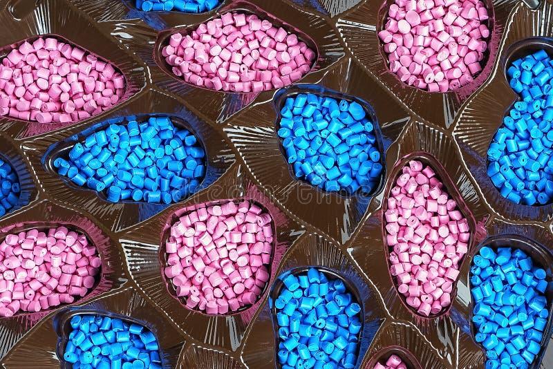 Colorant polym?re granules en plastique Colorant pour des plastiques Colorant dans les granules photographie stock