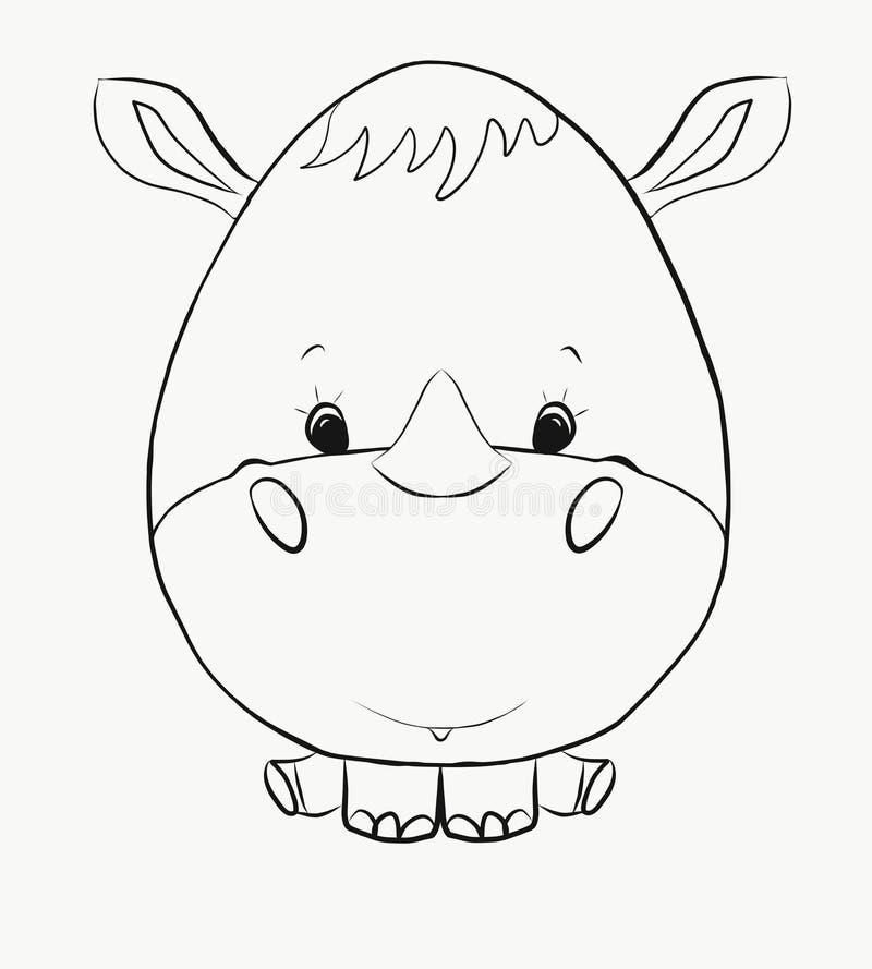 Colorant, un petit rhinocéros drôle illustration libre de droits