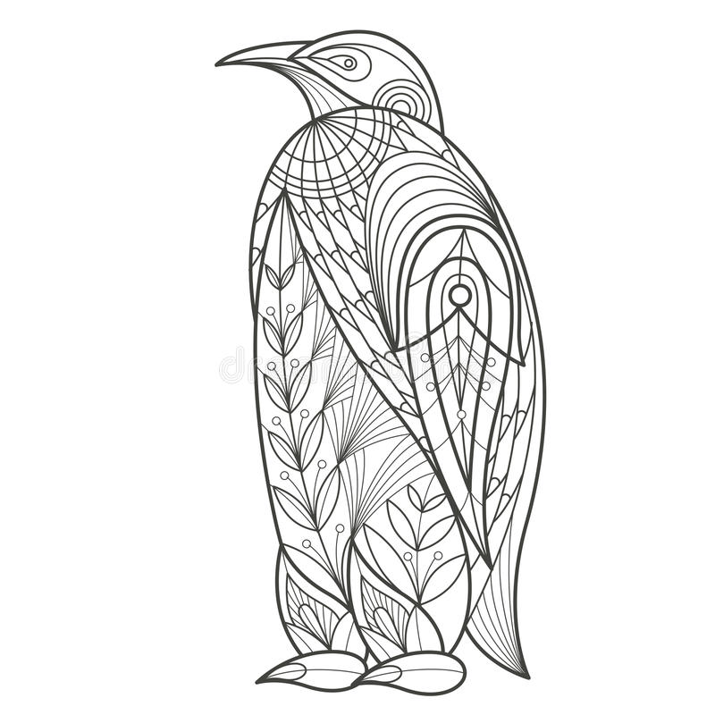 Colorante adulto Pingüino del pájaro libre illustration