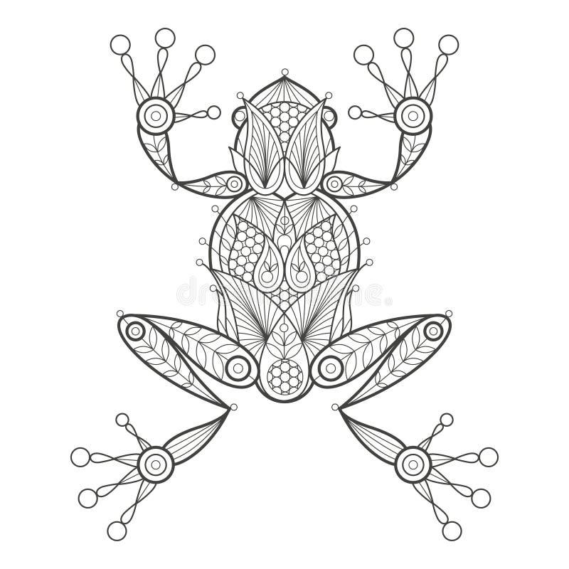 Colorante adulto Rana ilustración del vector. Ilustración de ...