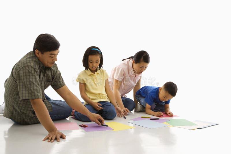 Colorante de la familia. foto de archivo libre de regalías