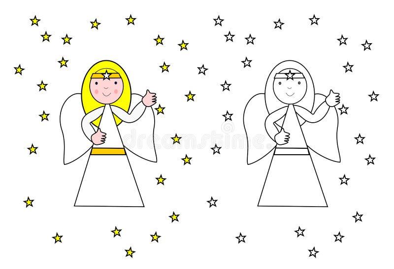 Colorante del ángel fotografía de archivo libre de regalías