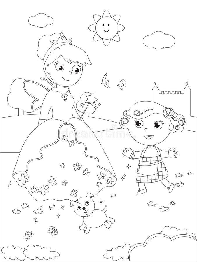 Colorante Mago De Oz 07 Dorothy Y Glinda Ilustración del Vector ...