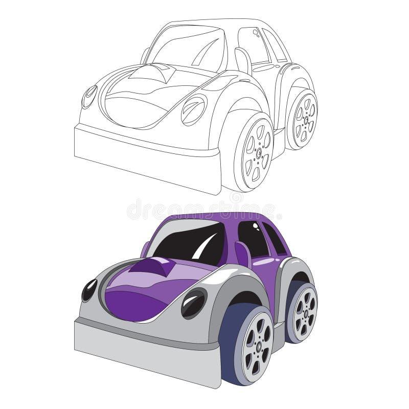 Colorante para el coche de los niños Para el arte y su diseño de los niños stock de ilustración