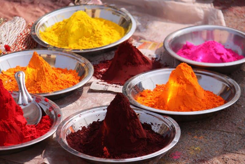 Colorants colorés de poudre image libre de droits