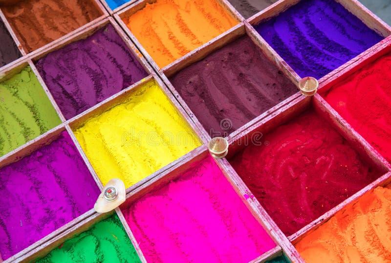 Colorants de poudre image stock