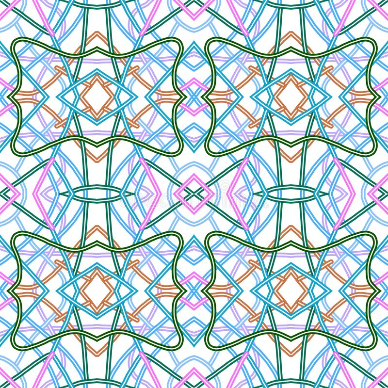 Colorated Watermark. Abstract geometrical pattern royalty free illustration