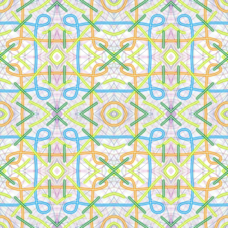 Colorated Watermark. Abstract geometrical pattern for classic watermark vector illustration