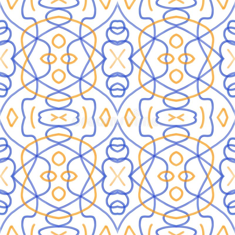 Colorated Watermark. Abstract geometrical pattern in classic design royalty free illustration