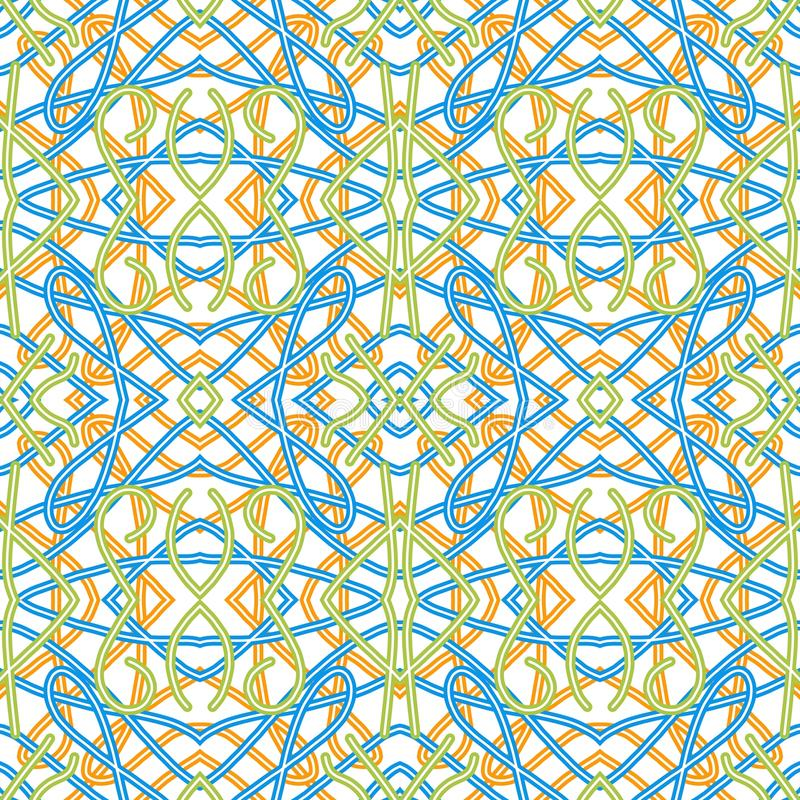 Colorated Watermark. Abstract geometrical pattern in classic style royalty free illustration