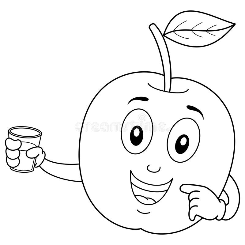 Coloration Apple avec du jus serré frais illustration libre de droits