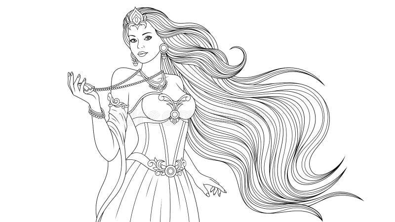 Coloration d'imagination de princesse image stock