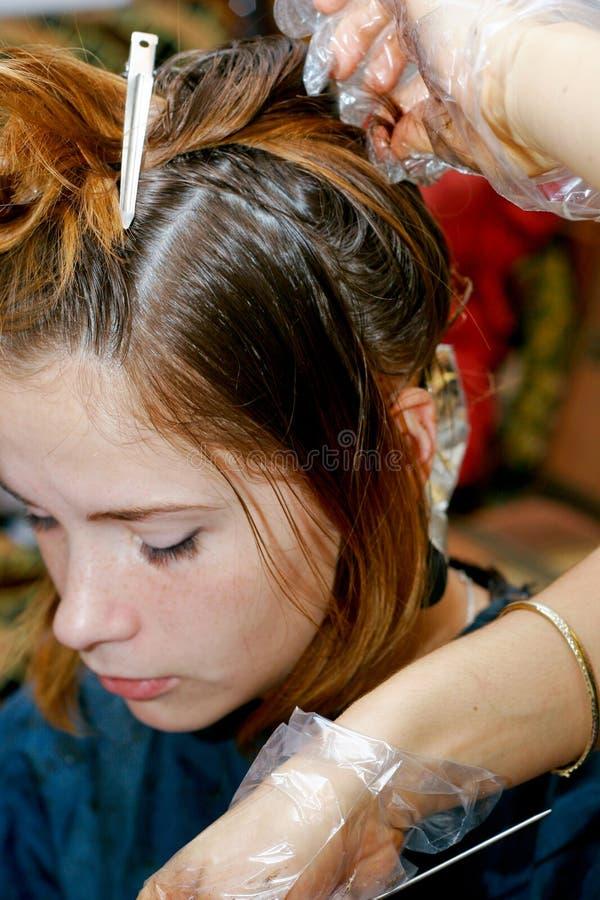 Coloration de cheveu photos libres de droits