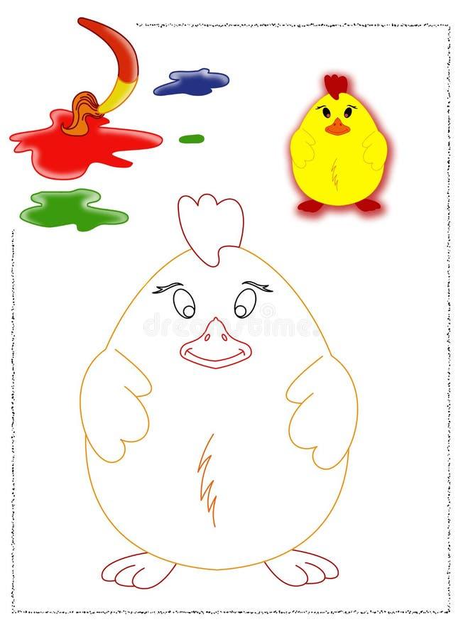 Coloration de nana illustration de vecteur