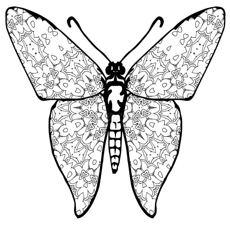 Coloration de papillon pour des enfants et des adultes pour des instants de relaxation photos stock