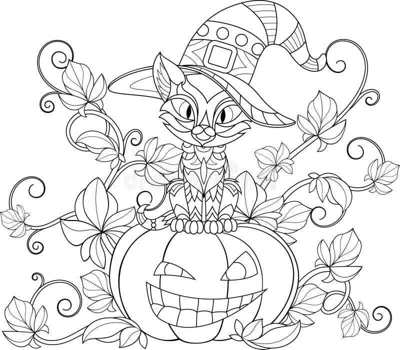Coloration thématique pour Halloween illustration libre de droits