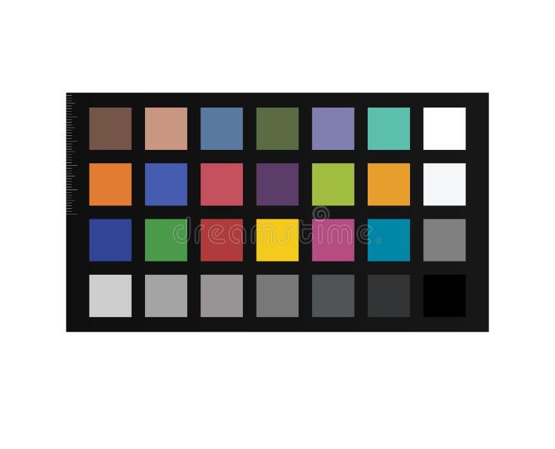 Colorchecker chipchart 颜色岗位生产的定标护照 向量例证