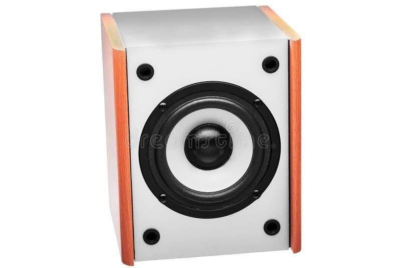Colore acustico di legno di gray della colonna immagini stock