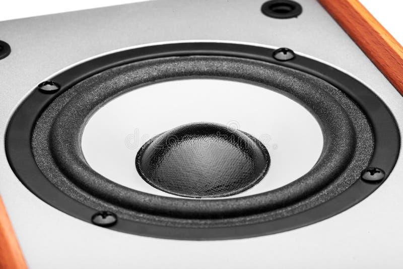Colore acustico di legno di gray della colonna immagini stock libere da diritti