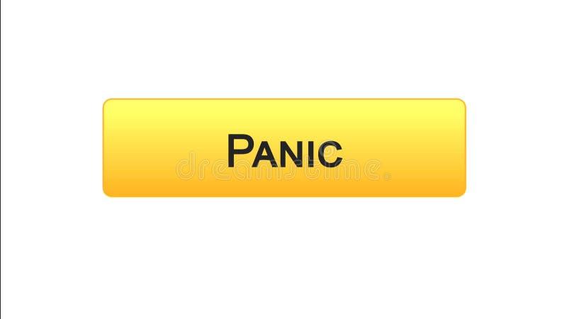 Colore arancio del bottone dell'interfaccia di web di panico, progettazione del sito internet, programma online illustrazione vettoriale
