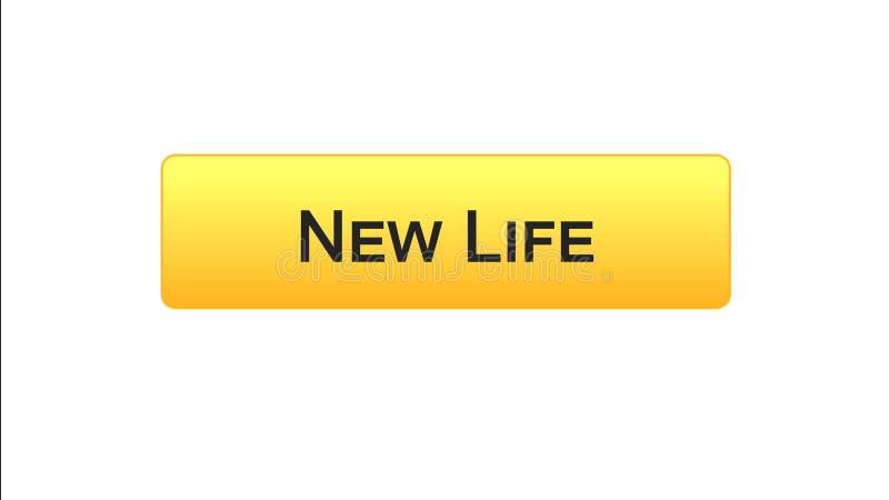 Colore arancio del nuovo di vita di web bottone dell'interfaccia, programma di motivazione, idea start-up illustrazione di stock