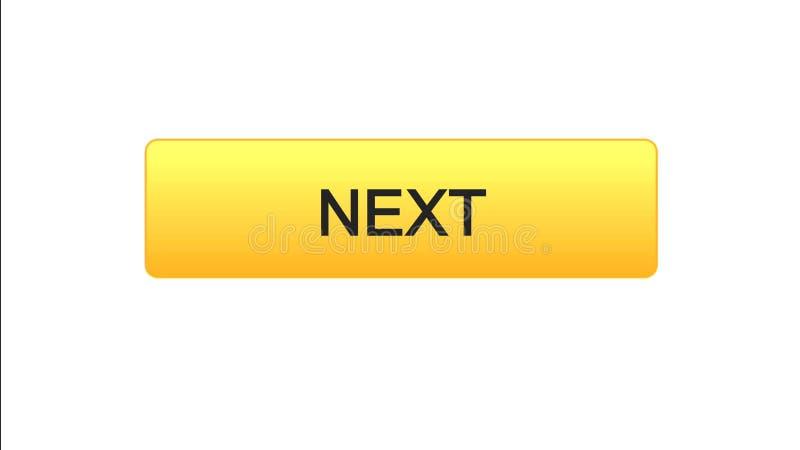 Colore arancio di web del bottone seguente dell'interfaccia, progettazione del sito internet, programma online royalty illustrazione gratis