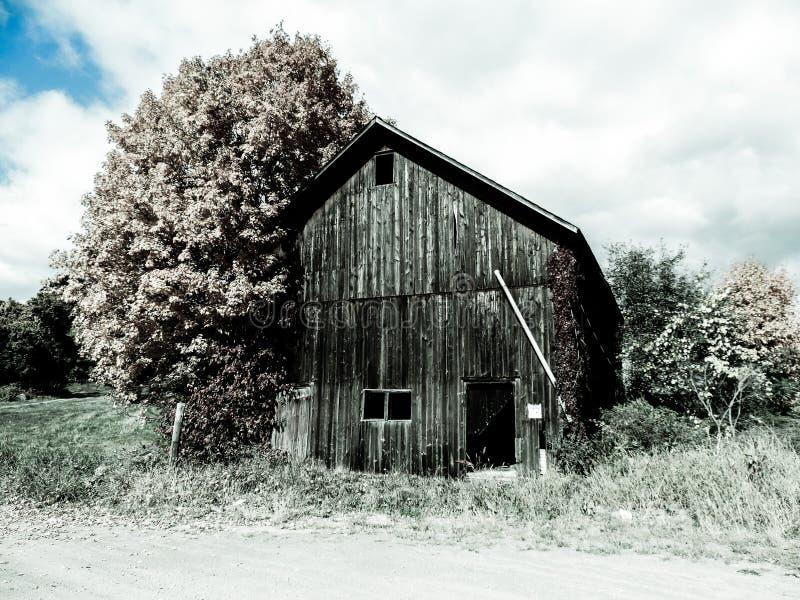 Colore basso di vecchio granaio immagini stock