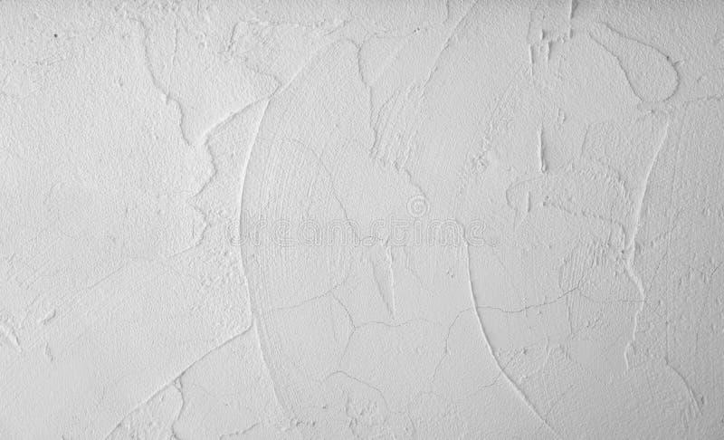 Colore bianco del muro di cemento del mortaio di superficie ruvida con il lavoro di struttura del cemento del gesso dell'uomo cas fotografia stock