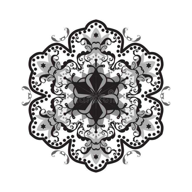 Colore in bianco e nero della mandala royalty illustrazione gratis