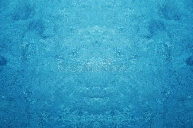 Colore blu creativo ruvido e fondo concreto di struttura di lerciume fotografia stock