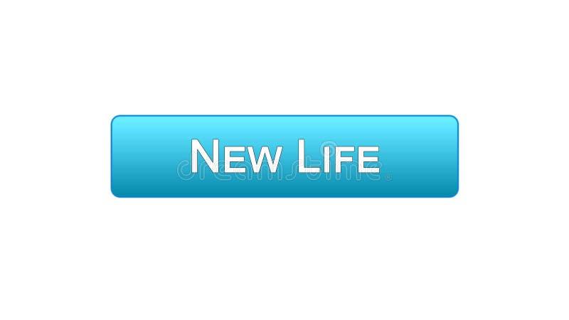 Colore blu del nuovo di vita di web bottone dell'interfaccia, programma di motivazione, idea start-up illustrazione vettoriale