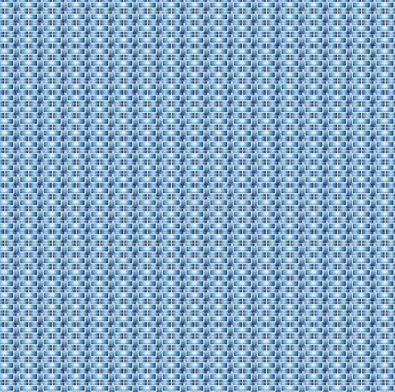 Colore blu di progettazione del modello dei mattoni illustrazione di stock