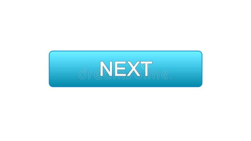 Colore blu di web del bottone seguente dell'interfaccia, progettazione del sito internet, programma online illustrazione vettoriale