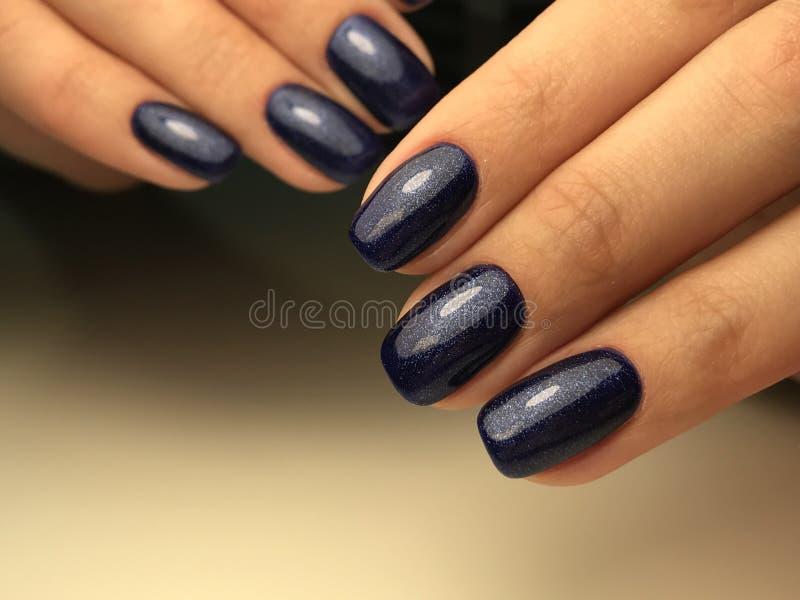 Colore blu scuro cosmico del chiodo fotografia stock