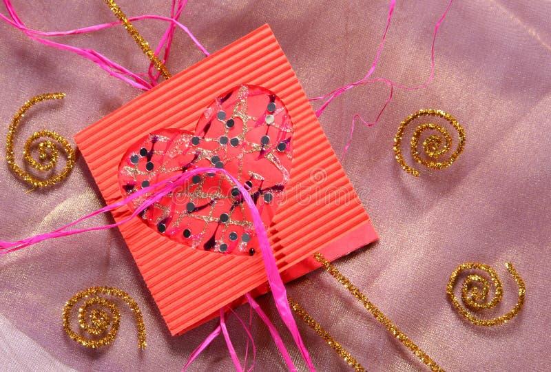 Colore del biglietto di S. Valentino fotografia stock