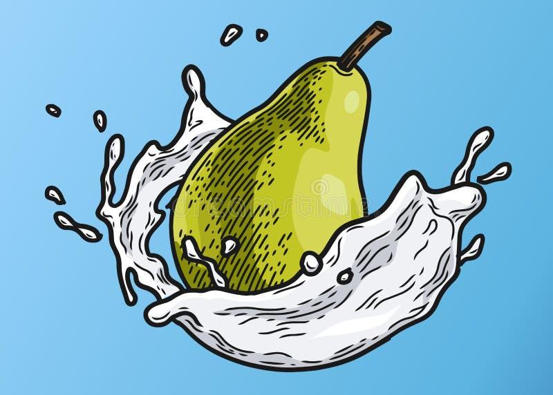 Colore del latte della pera royalty illustrazione gratis