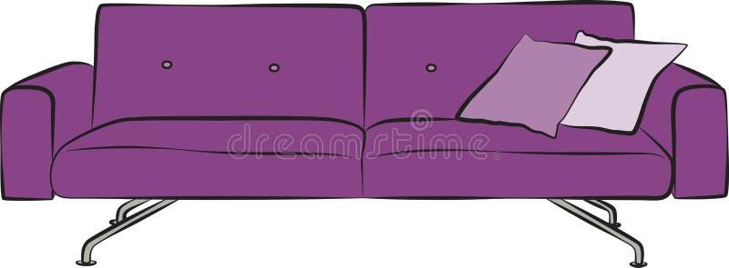 Colore del modello del sofà illustrazione vettoriale