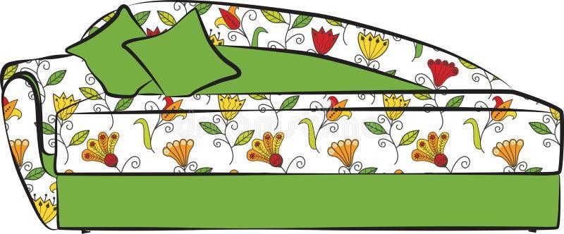 Colore del modello del sofà royalty illustrazione gratis