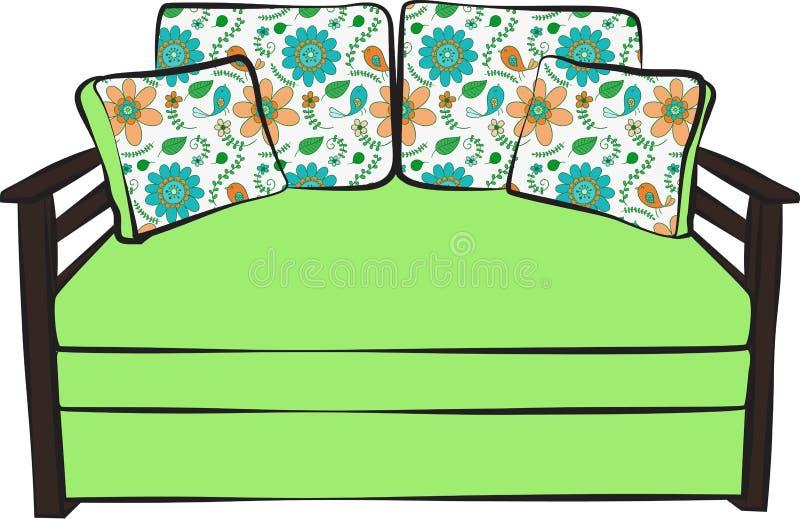 Colore del modello del sofà illustrazione di stock