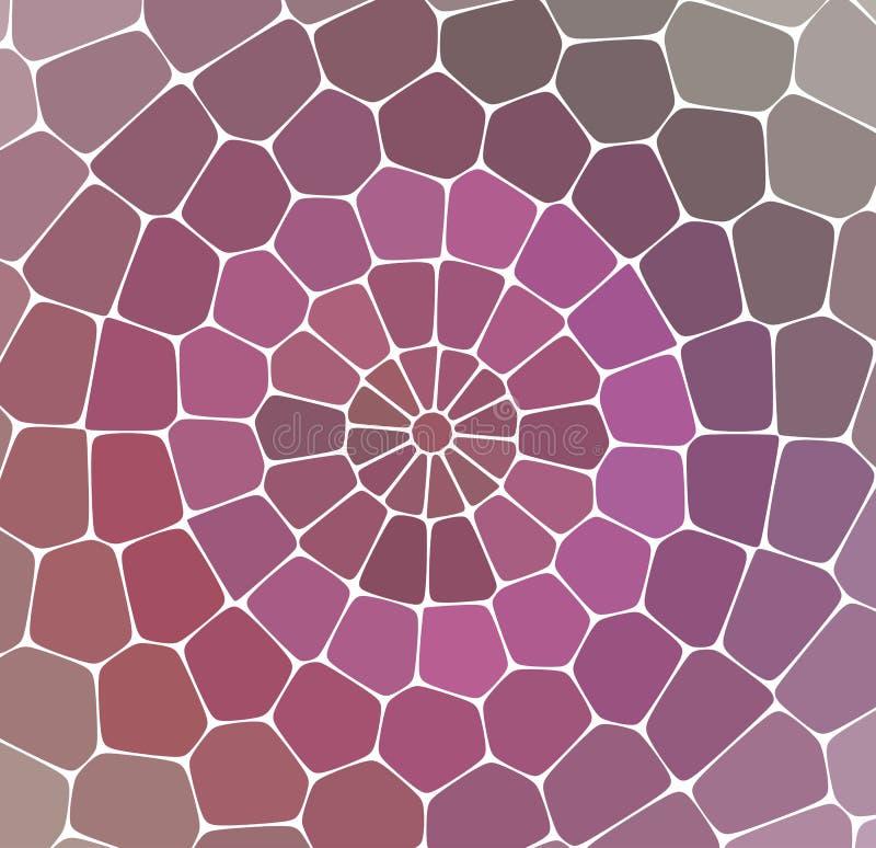 Colore del mosaico, pietre gialle, lilla, nere, ovali, fondo leggero illustrazione vettoriale