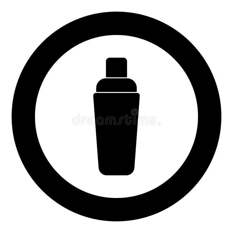 Colore del nero dell'icona dell'agitatore nel cerchio royalty illustrazione gratis