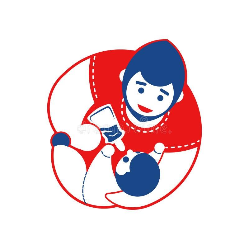 Download Colore Dell'emblema Due Del Bambino E Del Padre Illustrazione Vettoriale - Illustrazione di felicità, tenuta: 117978062