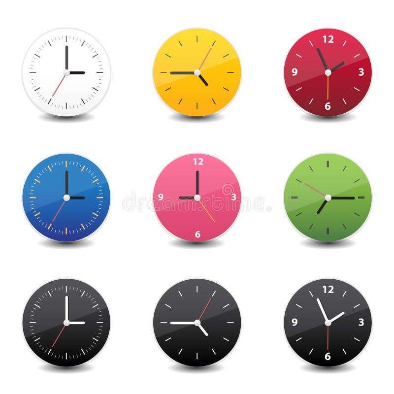 Colore dell'icona dell'orologio illustrazione di stock