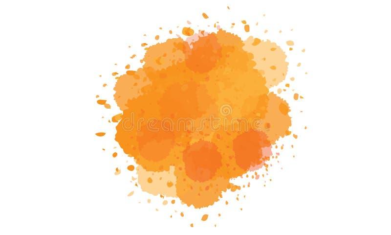 Colore dell'inchiostro di colore di acqua dell'autunno illustrazione vettoriale